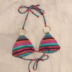 Victoria's secret triangle striped bikini top